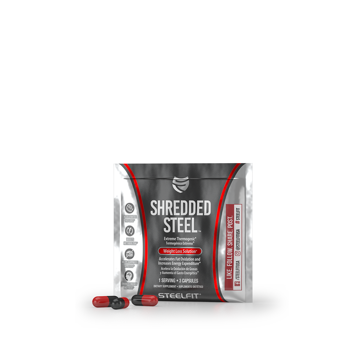 Shredded Steel - Single Serving